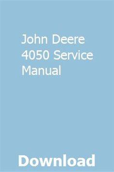 John Deere 4050 Service Manual pdf download online full