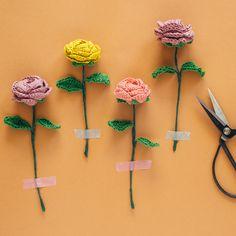 Free Crochet pattern: DIY Flower Bouquet
