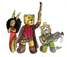 The crew of Serenity join the Cuddly Sketch Cards. Our favorite Firefly crew a little furrier than you would normally expect them to be.
