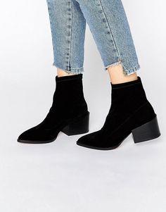 ASOS | ASOS ROCCO Pointed Velvet Sock Boots at ASOS