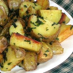 """Cilantro and Garlic Potatoes 