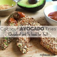 Coconut Avocado Fries - quick and easy, the perfect snack or appetizer.
