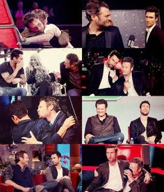 Their bromance is soo cute and funny!!!!!! Adam Levine and Blake Shelton. #Shevine