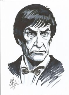 Parick Troughton as the Second Doctor by Mike Collins (Source: Facebook)