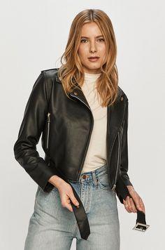 Geaca tip biker din colectia Brave Soul. Model neizolat confectionat din imitatie de piele. Brave, Ramones, Leather Jacket, Jackets, Clothes, Products, Fashion, Studded Leather Jacket, Down Jackets