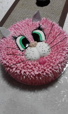 Cake Icing Tips, Buttercream Cake, Fancy Cakes, Cute Cakes, Dog Cakes, Cupcake Cakes, Puppy Birthday Cakes, Donut Decorations, Animal Cakes
