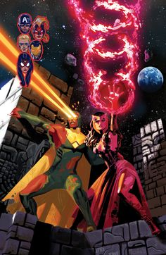 Vision & Scarlet Witch by Daniel Acuña