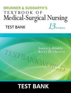 Test bank for brunner suddarths textbook of medical surgical test bank brunner and suddarths textbook of medical surgical nursing 13e fandeluxe Gallery