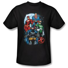 Justice League The Four Men Licensed DC Comics Adult Shirt S-3XL | eBay