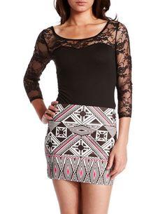 3/4 Lace-Sleeve Bodysuit: Charlotte Russe