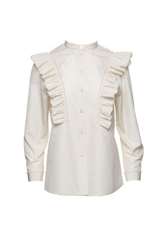 Stretch Poplin Ruffle Blouse by Marc Jacobs