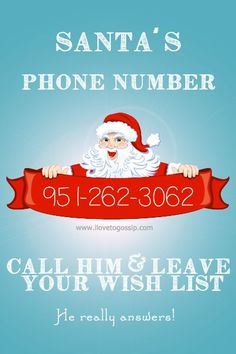 OMG I just freaked out both of my kids by dialing up Santa on my phone! They were speechless! Dial the number you see above to get Santa's direct hotline. There is a quick message and then he enco...
