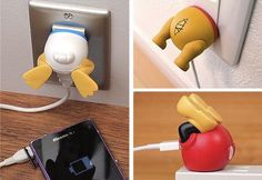 Cute USB Adapters That Look Like the Butts of Disney Characters I want pooh! Looks the the story where he gets stuck in the hole after eating too much honey. Lol!