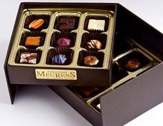 Fine Artisanal Belgian Chocolates Pralines. Flavors may be adapted to your taste http://chocolatsmeurens.com/flavors/boxes