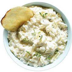 Sweet Onion and Thyme Dip     Recipe: http://www.sunset.com/food-wine/healthy/healthy-snacks-00418000075640/page14.html
