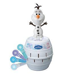 """Tomy Kinderspiel """"Pop Up Olaf"""" - hochwertiges Aktionsspiel für die ganze Familie aus dem Disney Film Frozen - verfeinert die Geschicklichkeit Ihres Kindes - ab 4 Jahre"""