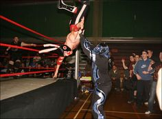 Moonsault to the floor