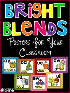 Bright Blends Posters For Your Classroom
