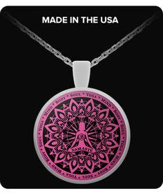 Yoga Namaste Pink Necklace