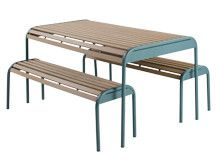 Mead Bench Set, Graphite Blue | made.com