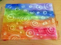 Acuarela Mágica. Crea una obra de arte mágica, divertida, diferente y que a los niños sorprenderá. Esta técnica mixta necesita acuarela, crayolas y papel.: