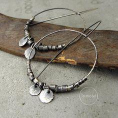 100% Ag - earrings, raw sterling silver hoop earrings by studioformood on Etsy https://www.etsy.com/listing/253091136/100-ag-earrings-raw-sterling-silver-hoop
