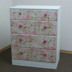 Decoupaged dresser