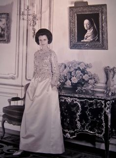 Mrs. Charles Wrightsman at 820 Fifth Avenue.  Known as one of the last remaining grande dames of a bygone era, Mrs. Wrightsman is one of the undisputed leaders of New York society, c. 1962.
