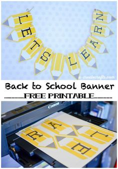 Free Printable Back to School Pencil Banner School – DIY Back to school teacher banner by Michaels Makers U-Create Crafts Back To School Party, Back To School Teacher, Beginning Of School, School Parties, School Classroom, Back To School Ideas For Teachers, Back To School Crafts For Kids, Back To School Gifts, Kindergarten Classroom