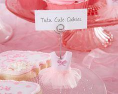 Tutu Cute Place Card Holders (Set of 6) #tutucute #babyshower #birthday