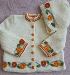 Source by getnsmile Baby Cardigan, Baby Pullover, Crochet For Kids, Crochet Baby, Knit Crochet, Handgemachtes Baby, Knitting Machine Patterns, Asian Babies, Cardigan Fashion