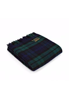 Perfect for all seasons, this blanket is beautiful over the end of a bed or sofa. If you're the outdoorsy type, make sure to have it close by for an impromptu picnic or camp fire. This tartan weave blanket is made with pure new wool in stunning Hunting McLeod. Made in Wales, UK. Machine Wash According To Instructions On Care Label.    Size: 150 x 183 cms   Blackwatch Tartan Throw by Tweedmill. Home & Gifts - Home Decor - Pillows & Throws Canada