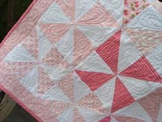 Pinwheel Baby Quilt by emptybobbin