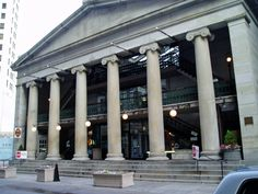 The Westminster Arcade, the oldest standing enclosed shopping mall in America, built in 1828. The Arcade is still a functional shopping center in Providence, RI.