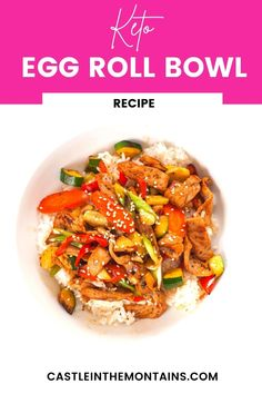 This easy Keto Egg Roll in a Bowl Recipe is a Low Carb Staple Recipe. It's easy, healthy and delicious. Naturally Keto. #easyketo #castleinthemountains #ketoeggrollinabowl Staple Recipe, Eggroll In A Bowl, Coleslaw Mix, Food Staples, Gordon Ramsay, Egg Rolls, Jamie Oliver, Diet And Nutrition, Recipe Collection