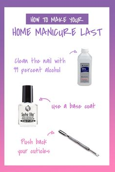 These manicure tips and tricks are perfect for at-home DIY nails. home manicure tips New French Manicure, Gel Manicure At Home, Glitter French Manicure, Pedicure At Home, French Manicure Designs, Pink Manicure, Manicure Colors, Manicure Tips, Nails At Home