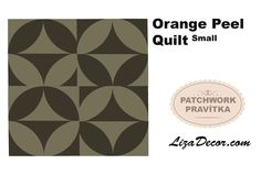 #orangepeel #patchwork #patchworkovévzory #tutorial #šablony