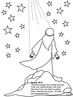 abraham coloring pages we colored abraham and glued him to black paper then decorated - Free Printable Toddler Coloring Pages