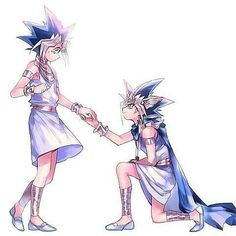"""ATEM IS PROPOSING!!! o(≧∇≦o) ❖ ❖ ❖ This happened in our roleplay, only very differently. Atem never even gave Yugi an engagement ring. He just said, """"Be my queen,"""" and tears and kisses and shit went down. ❖➤▪▪▪▪▪▪▪▪▪▪▪▪▪▪▪▪▪▪ Art is not owned by me. All credit goes to the original artist. If you are the owner and wish this not to be up, DM me, or tell me, because it is yours and I will gladly take it down for you. Thank you. 乁( ˙ ω˙乁) ❖➤▪▪▪▪▪▪▪▪▪▪▪▪▪▪▪▪▪▪ #yami #yamiyugi #yugioh #yugi #..."""