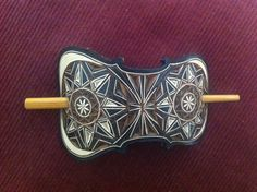 Hand carved leather hair barrette - tooled leather jewelry -music jewelry- hair accessories - Stick Barrette - Hair Slide - Nail Effect Music Jewelry, Etsy Jewelry, Hair Jewelry, Tooled Leather, Leather Tooling, Etsy Handmade, Handmade Items, Handmade Gifts, Hair Slide