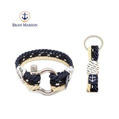Bran Marion Black, Classic and White Rope Nautical Bracelet and Keychain Nautical Bracelet, Nautical Rope, Nautical Jewelry, Marine Rope, White Rope, Nautical Fashion, Achilles, Everyday Look, Handmade Bracelets