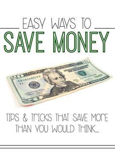 Genius EASY ways to save money that will save you more than you think!