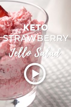 Keto Strawberry Jello Salad - Low Carb Keto Strawberry Jello Salad by I Breathe I'm Hungry. This easy recipe will be your new summer salad staple for picnics and BBQ's! Or you can have it for breakfast all week long. Pin made by Key Lime, Ketogenic Diet, Ketogenic Recipes, Keto Fat, Low Carb Keto, Low Carb Desserts, Low Carb Recipes, Clean Recipes, Easy Recipes