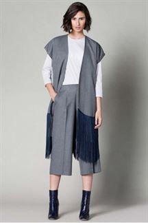 Pantalón culotte gris