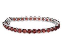 Garnet Bracelet in Sterling Silver. $200 by BlueNile