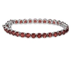 Garnet Bracelet in Sterling Silver. $200 by BlueNile