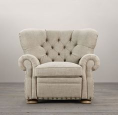 Churchill Recliner with Nailheads New Furniture, Online Furniture, Living Room Furniture, Fireplace Furniture, Restoration Hardware, Hard Ware, Home Hardware, Interior Exterior, Room Chairs