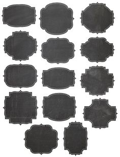 Editable Chalkboard PDF Cliparts - editable pdf scrapbooking elements to be used…