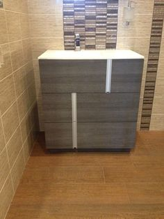 Photo Album Gallery Vanity It also es in white Saw these at Porcelanosa