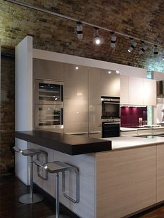 high end one wall kitchen idea - - Yahoo Image Search Results
